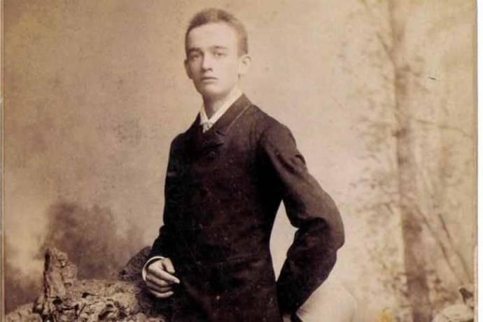 Frederick Trump, abuelo del mandatario estadounidense, Donald Trump, en 1887.
