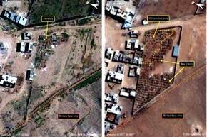 La imagen muestra la prisión militar Saydnaya, uno de los centros de detención más grandes de Siria.