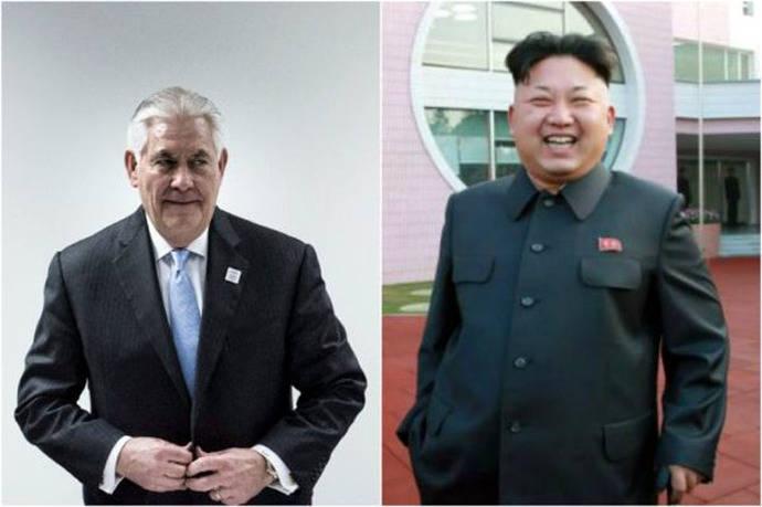 Rex Tillerson, secretario de Estado de EE. UU. / Kim Jong-un, líder de Corea del Norte.