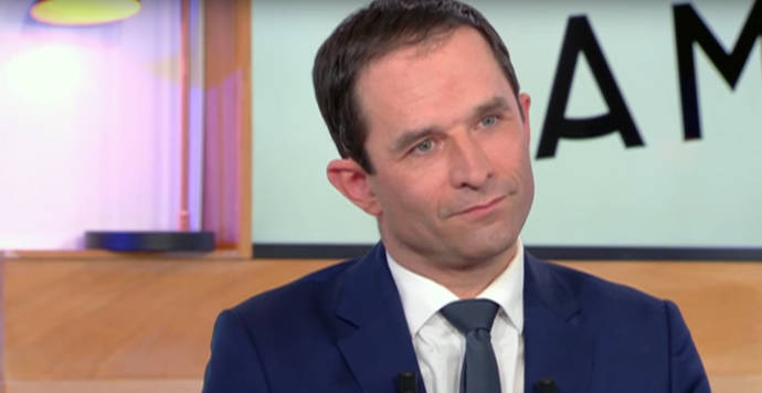 El candidato de los socialistas a las presidenciales francesas de abril y mayo, Benoît Hamon