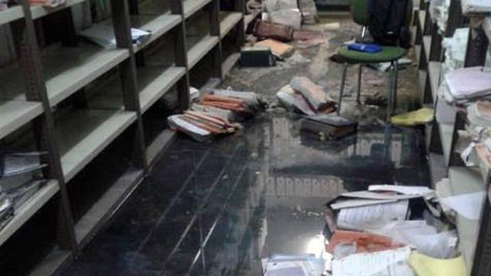 Inundación de los archivos de los juzgados de Torrejón (Madrid)/ FOTO CEDIDA POR CIUDADANOS