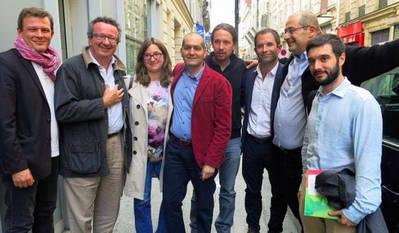 Pablo Iglesias se reunió con el candidato socialista a la presidencia de Francia