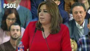 Susana Díaz en el acto celebrado en Madrid al que han asistido cientos de alcaldes