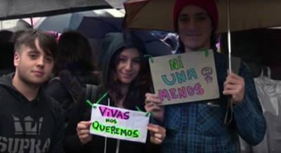 Manifestación en Argentina contra la violencia machista el pasado 19 de octubre