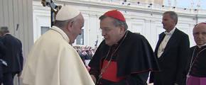 El cardenal Burke, con el Papa Francisco