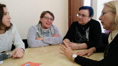 Isabel Fernández, Isabel López, Susana Gaytán y Mari Carmen Monreal