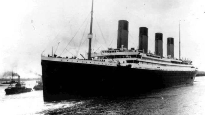 Una imagen del Titanic del 10 de abril de 1912.