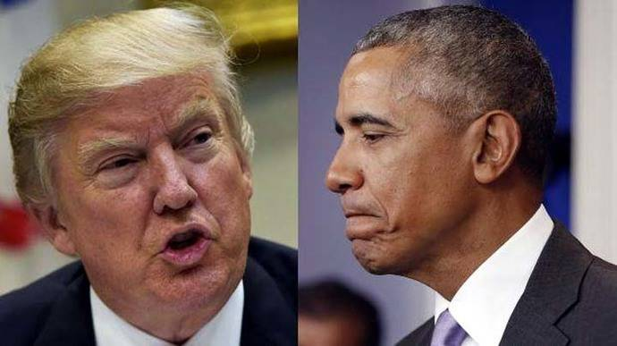 Donald Trump y Barack Obama