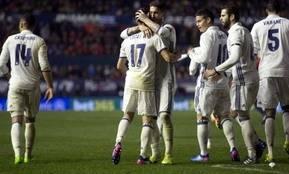 James jugó 34 minutos en la victoria del Real Madrid