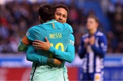 Messi anotó uno de los seis goles.