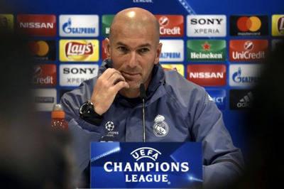 Zidane, técnico del Real Madrid.