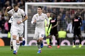 Benzemá marcó el gol del empate en el Bernabéu.