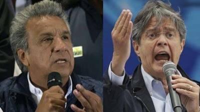 Moreno (i) y Lasso se alistan para la segunda vuelta el próximo 2 de abril.