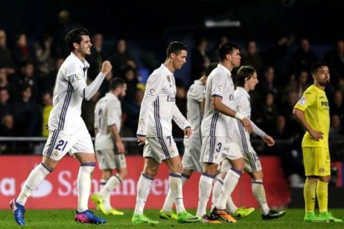 Real Madrid remontó partido ante Villarreal y ganó 2-3