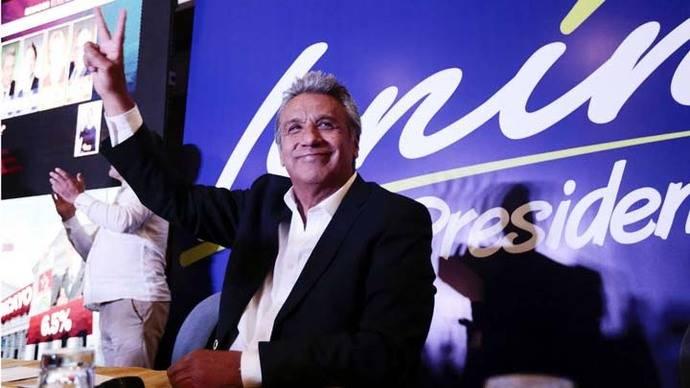 Un millón de votos de ventaja saca Moreno en primera vuelta en Ecuador