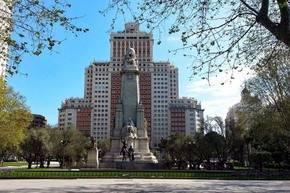 La Plaza de España...