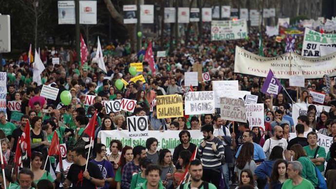 Manifestación del 9M contra los recortes, la Lomce y por la escuela pública