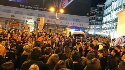 Manifestantes en Sol piden una justicia igual para todos