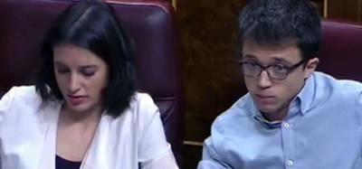 Irene Montero e Íñigo Errejón en el Congreso