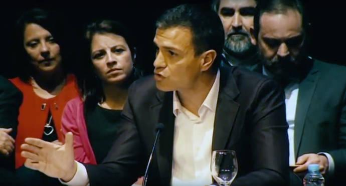 Pedro Sánchez en el acto de presentación de su proyecto en el Círculo de Bellas Artes