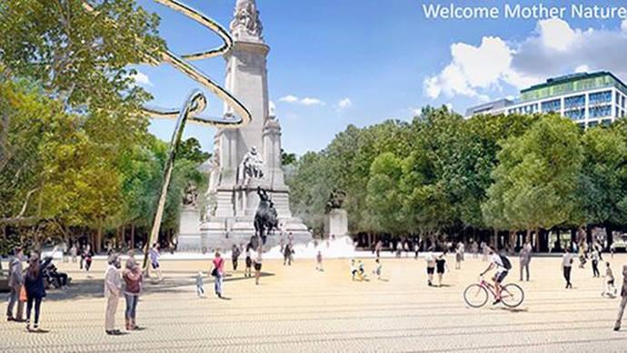 Así serán los plazos en las obras de la Plaza de España y la ampliación de aceras de la Gran Vía