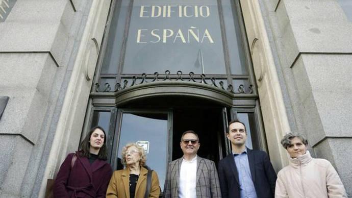 La restauración del Edificio España de Madrid se terminará a la vez que la nueva Plaza de España