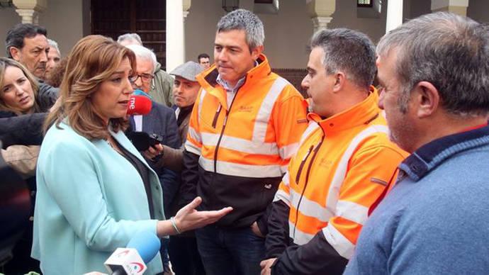 Susana Díaz intenta disputar a Pedro Sánchez la bandera de la izquierda