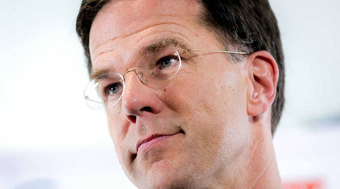 El jefe de Gobierno holandés, Mark Rutte