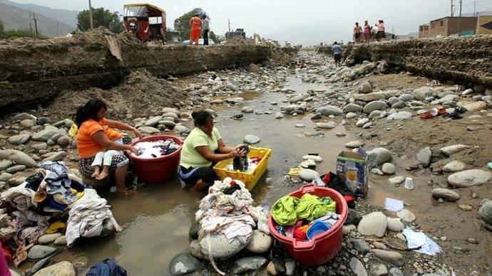 Perú listo para la reconstrucción tras inundaciones y falta de agua potable