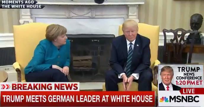 Trump pasa de Merkel y le niega el saludo