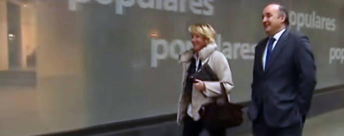 El exgerente del PP de Madrid Beltrán Gutiérrez junto a Esperanza Aguirre