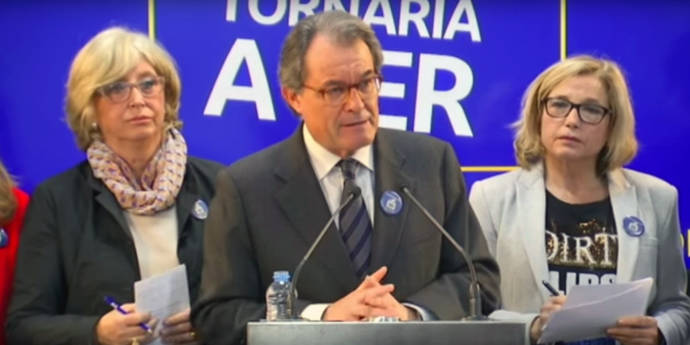 Irene Rigau (i), Artur Mas y Joana Ortega