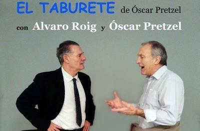 Oscar Pretzel y Álvaro Roig son los actores que ponen en pie la obra de microteatro El taburete