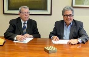 Juan Antonio García Galindo (d) y José Antonio Sierra