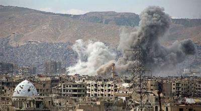 Foto de referencia: Bombardeo en Jobar, cerca de Damasco, ocurrido a principios de esta semana.