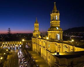 Arequipa, colonial ciudad blanca cerca de atractivos de Naturaleza en Perú