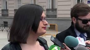 Cassandra a la salida de la Audiencia Nacional