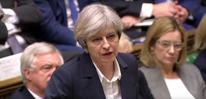 Theresa May anuncia la salida del reino Unido de la UE en la Cámara de los Comunes
