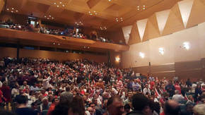 Palacio de Congreso de Cádiz con el mitin de Pedro Sánchez