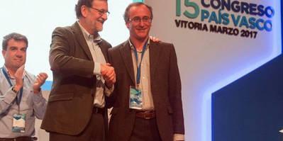Rajoy, junto a Alfonso Alonso