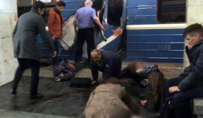 Un atentado en el metro de San Petersburgo deja once muertos y 45 heridos