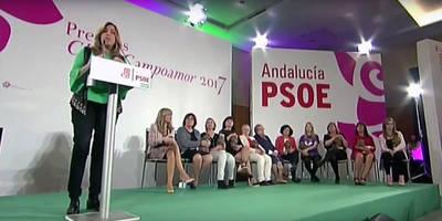 Susana Díaz, en la entrega de los premios Clara Campoamor el sábado
