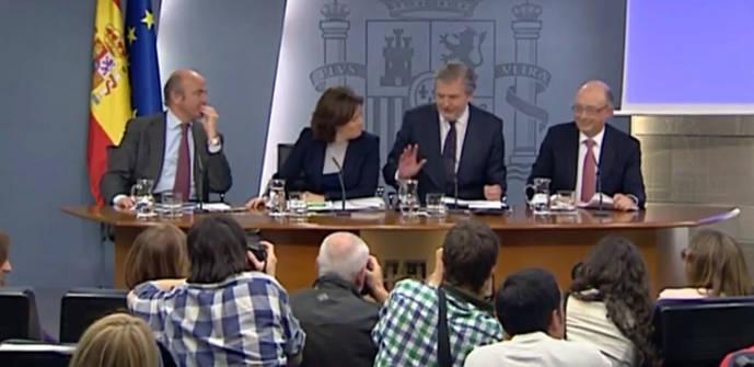 De forma inaudita, cuatro ministros atendieron a los periodistas