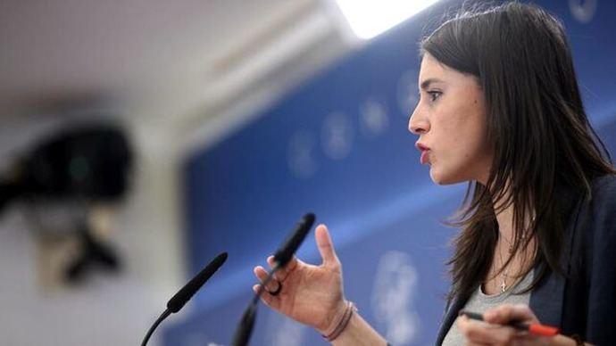 La portavoz de Unidas Podemos, Irene Montero