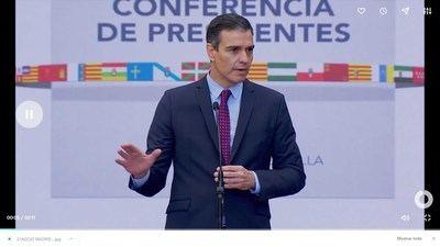 El jefe de Gobierno durante la Conferencia de Presidentes  Autonómico (captura de pantalla)