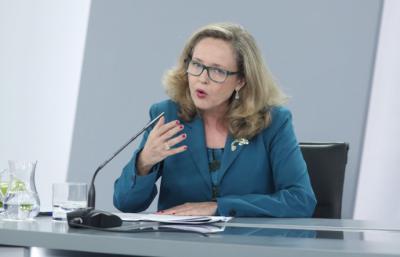 La vicepresidenta de Asuntos Económicos y Transformación Digital, Nadia Calviño