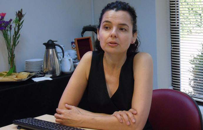 La académica del Departamento de Sociología de la Facultad de Ciencias Sociales de la Universidad de Chile e investigadora del Centro de Estudios de Conflicto y Cohesión Social (COES), Emmanuelle Barozet.Foto: U. Autónoma.