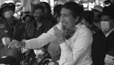 El candidato presidencial ecuatoriano por el movimiento Pachakutik, Yaku Pérez