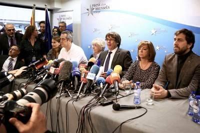 Carles Puigdemont en rueda de prensa desde Bélgica sobre su futuro y perspectivas de Cataluña