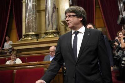 Carles Puigdemont fue citado a a declarar el jueves y el viernes como investigados en la Audiencia Nacional de Madrid.